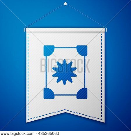 Blue Ancient Magic Book With Alchemy Recipes And Mystic Spells And Enchantments Icon Isolated On Blu