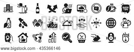 Set Of Business Icons, Such As Online Voting, Voting Ballot, Analytics Icons. Romantic Dinner, Leade