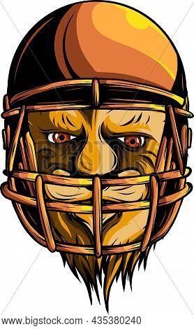 Vector Illustration Of Helmet Football Team Head
