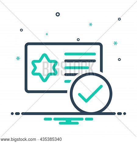 Mix Icon For Qualification Merit Ability Eligibility Talent Aptitude Document