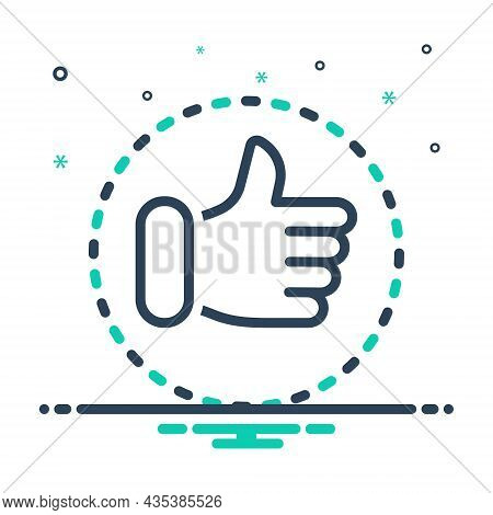 Mix Icon For For Favour Approve First-choice Agree Thumb Satisfaction