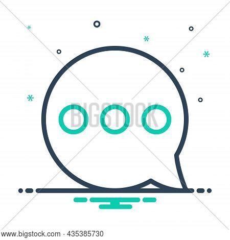 Mix Icon For Misc Bubble Message Chat Dialogue Blog Conversation