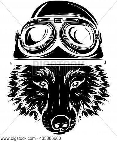 Wolf Vintage Logo Stock Vector Illustration Design