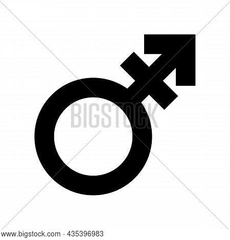 Transgender Symbol Isolated On White. Trans Gender