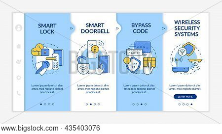 Digital Security System Onboarding Vector Template. Responsive Mobile Website With Icons. Web Page W