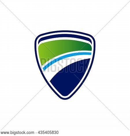 Shield Guard Protection Logo Icon Flat Vector Concept Graphic Design