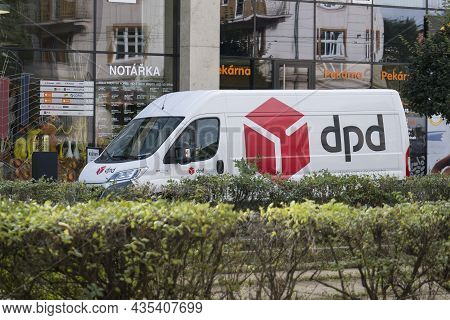 Brno, Czech Republic - September 17, 2019: White Lcv Fiat Ducato Multijet Of Dpd Delivery Company Pa