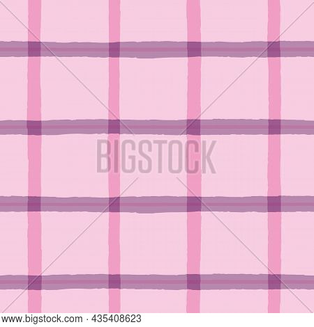 Vector Violet Rough Checkered Pink Repeat Pattern