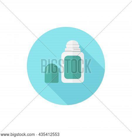 Flat Design Roll On Deodorant. Vector Illustration