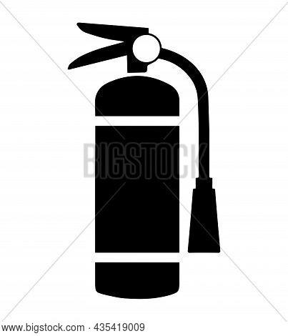 Fire Extinguisher Symbol . Fire Extinguisher Sign. Dry Chemical Powder Fire Extinguisher Sign.
