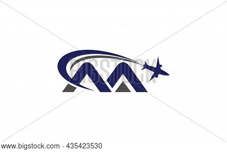 Simple And Modern Airplane Logo Design For Airlines, Airline Tickets, Travel Agencies With Aa Letter