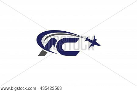 Simple And Modern Airplane Logo Design For Airlines, Airline Tickets, Travel Agencies With Ac Letter