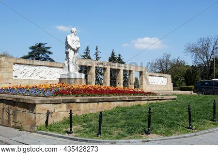 Belgrade, Serbia - April 24, 2021: Landmark Dedicated To Partisan And Red Army Forces Which Liberate