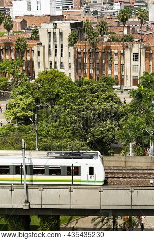 Medellin, Antioquia. Colombia - October 06, 2021. Metro De Medellín Is The Name Given To The Metro-t