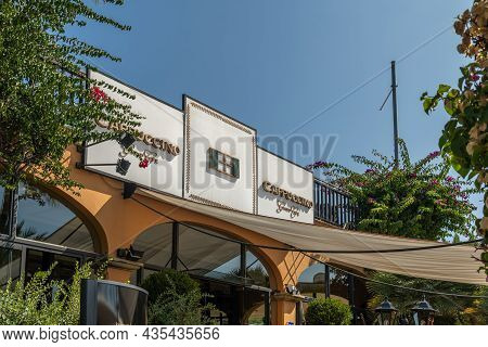Portals Nous, Spain; October 03 2021: General View Of The Logo Of The Cappuccino Coffee Shop Chain,