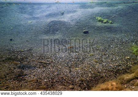 Underwater Pebbles And Gravel, Rivers Freshwater Underwater, Crystal Clear Water