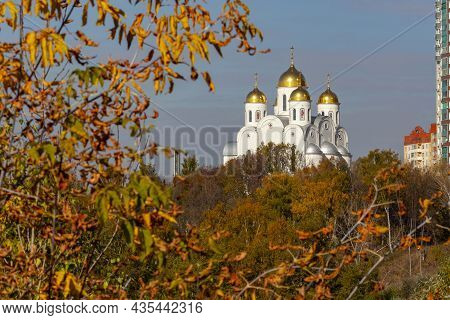 Church Of Michael The Archangel In Putilkovo, Moscow.