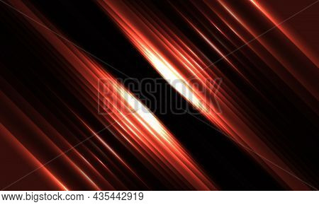 Dark Red Geometric Background With Glowing Diagonal Red Light Lines And Shadows For Presentation Bac