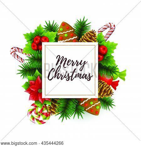 Christmas. Christmas Background. Christmas Vector. Merry Christmas And Happy New Year Vector Illustr