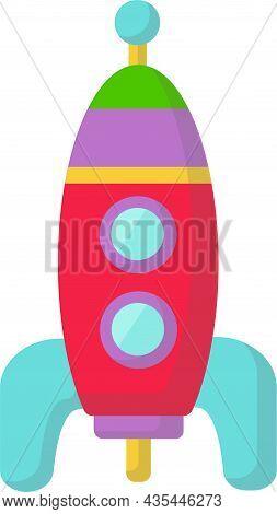 Cute Children Toy, Rocket. Child Development. Games.
