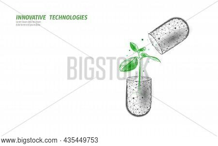 3d Capsule Essential Organic Extract. Cold Flu Disease Supplement. Health Medicine Vitamin Poster Te