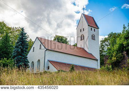Swiny, Poland - August 08, 2021. Roman Catholic Church Of Saint Nicholas - Saint Mikolaj Church