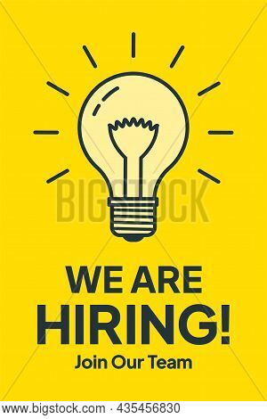 We Are Hiring.the Business Concept Of Search And Recruitment. Vector Illustration.