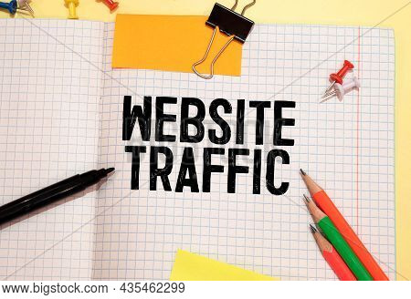 Web Traffic Business, Technology, Internet And Networking Concept