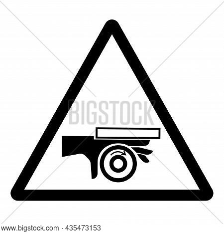 Hand Crush Roller Pinch Point Symbol Sign, Vector Illustration, Isolate On White Background Label .e