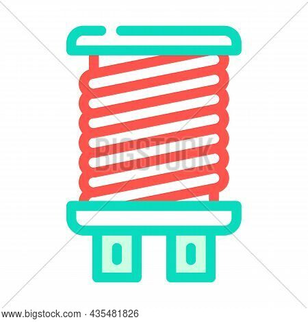 Coil Electromagnetic Color Icon Vector. Coil Electromagnetic Sign. Isolated Symbol Illustration