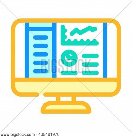 Reporting System Color Icon Vector. Reporting System Sign. Isolated Symbol Illustration