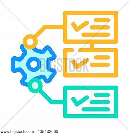 System Monitoring Color Icon Vector. System Monitoring Sign. Isolated Symbol Illustration