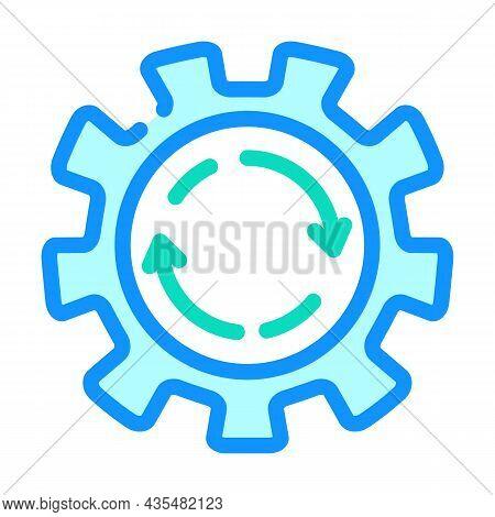 Cogwheel Erp Color Icon Vector. Cogwheel Erp Sign. Isolated Symbol Illustration