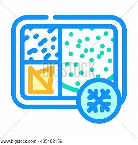 Frozen Lunch Color Icon Vector. Frozen Lunch Sign. Isolated Symbol Illustration