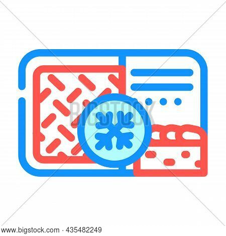 Meat Pie Frozen Dish Color Icon Vector. Meat Pie Frozen Dish Sign. Isolated Symbol Illustration