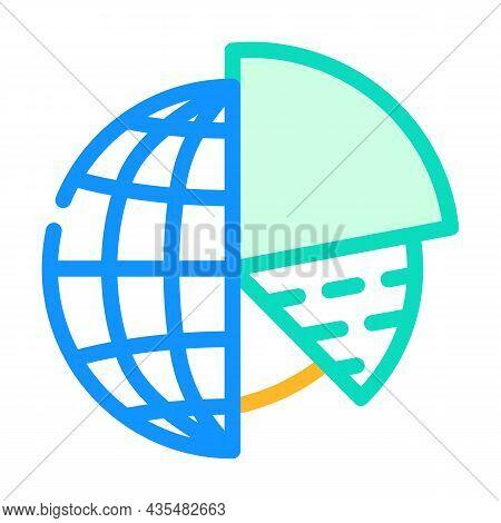 Analytics Globalization Color Icon Vector. Analytics Globalization Sign. Isolated Symbol Illustratio