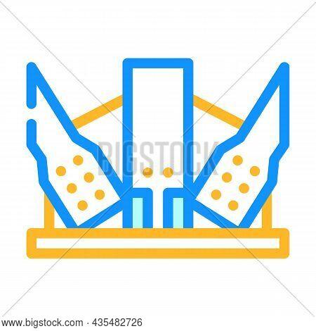 Modern Metal Frame Building Color Icon Vector. Modern Metal Frame Building Sign. Isolated Symbol Ill