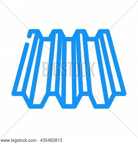 Roof Layer Metal Material Color Icon Vector. Roof Layer Metal Material Sign. Isolated Symbol Illustr