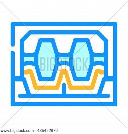 Industrial Machine For Metal Part Production Color Icon Vector. Industrial Machine For Metal Part Pr