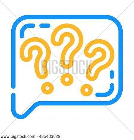 Question Speak Color Icon Vector. Question Speak Sign. Isolated Symbol Illustration