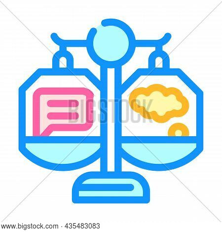 Weighing Opinions Color Icon Vector. Weighing Opinions Sign. Isolated Symbol Illustration