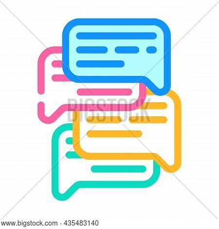 Talk And Discuss Color Icon Vector. Talk And Discuss Sign. Isolated Symbol Illustration