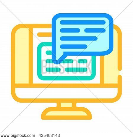 Web Conversation Chat Color Icon Vector. Web Conversation Chat Sign. Isolated Symbol Illustration