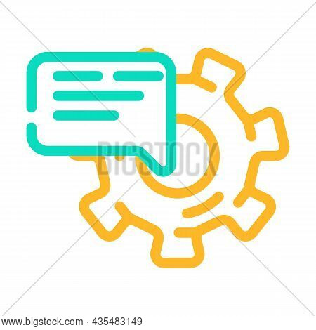 Support Communication Color Icon Vector. Support Communication Sign. Isolated Symbol Illustration