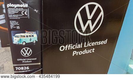 Bordeaux , Aquitaine  France - 09 30 2021 : Volkswagen Official Licensed Product Camper Vw Bus In Pl