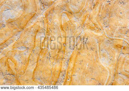 Polished Limestone Floor Tile Detail In The Church Of Holy Sepulchre, Jerusalem, Israel