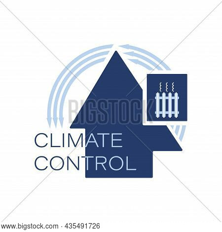 Warming. Heating Unit. Climate Control. Logo, Icon. Keeping Warm In The House. Heating Systems.