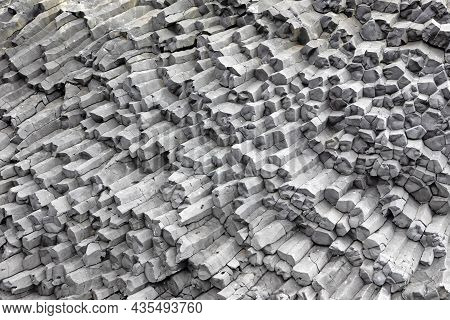 Basalt Columns On A Black Beach, Iceland