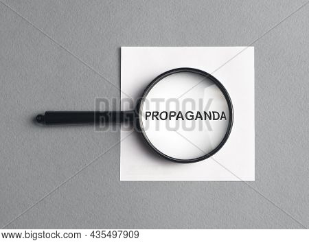 Propaganda Word. Fake, Misleading And Distorted News, Brainwash And Misinformation.
