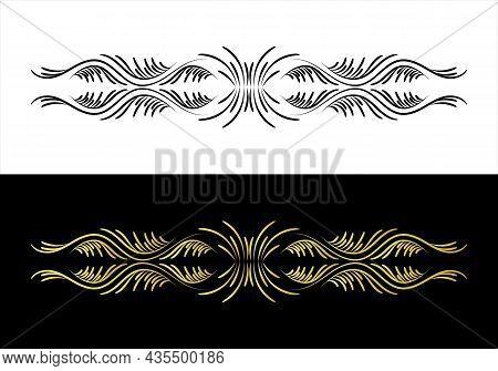 Baroque Vector Of Vintage Element For Design. Decorative Design Element Filigree Calligraphy Vector.